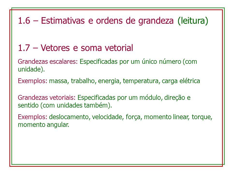 1.6 – Estimativas e ordens de grandeza (leitura)