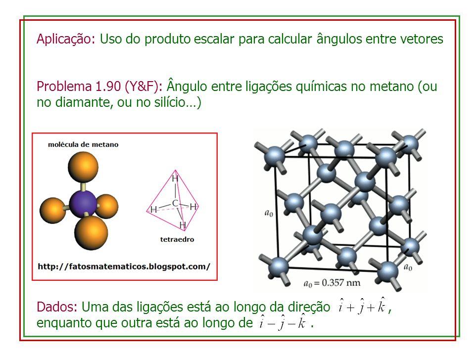 Aplicação: Uso do produto escalar para calcular ângulos entre vetores