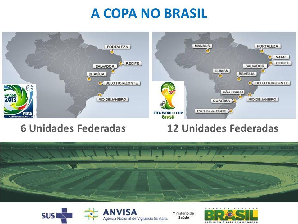 A COPA NO BRASIL 6 Unidades Federadas 12 Unidades Federadas