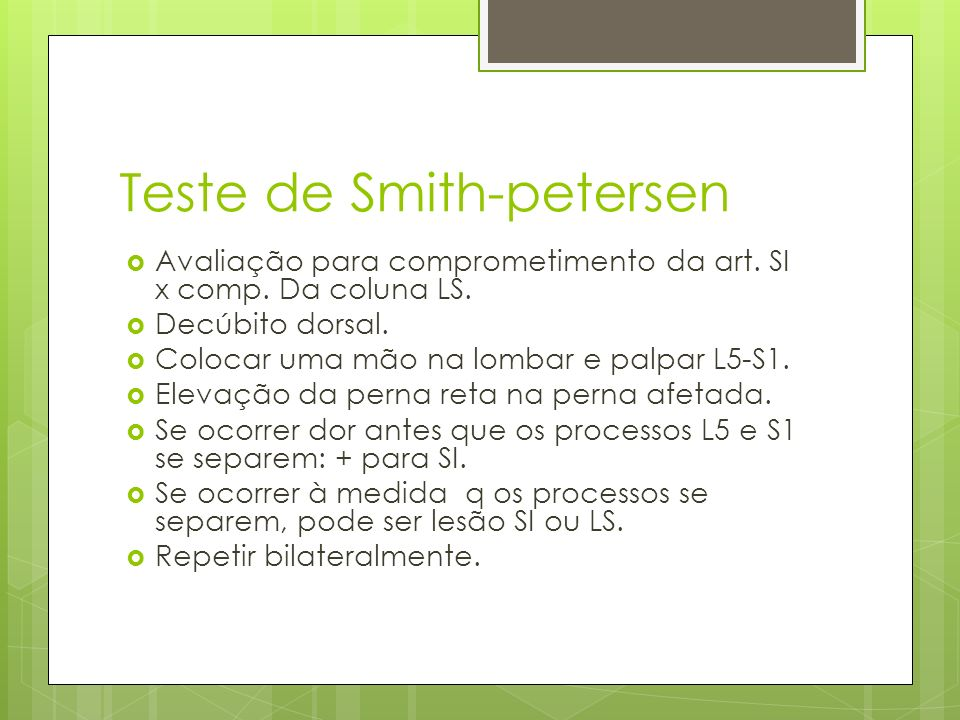 Teste de Smith-petersen