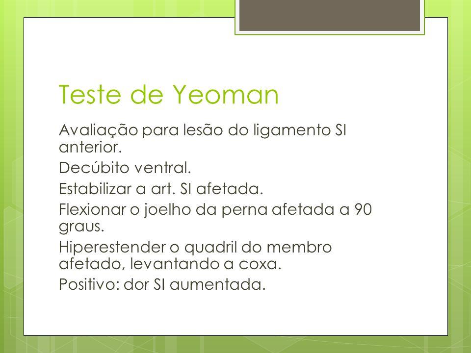 Teste de Yeoman