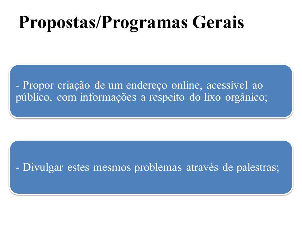 Propostas/Programas Gerais