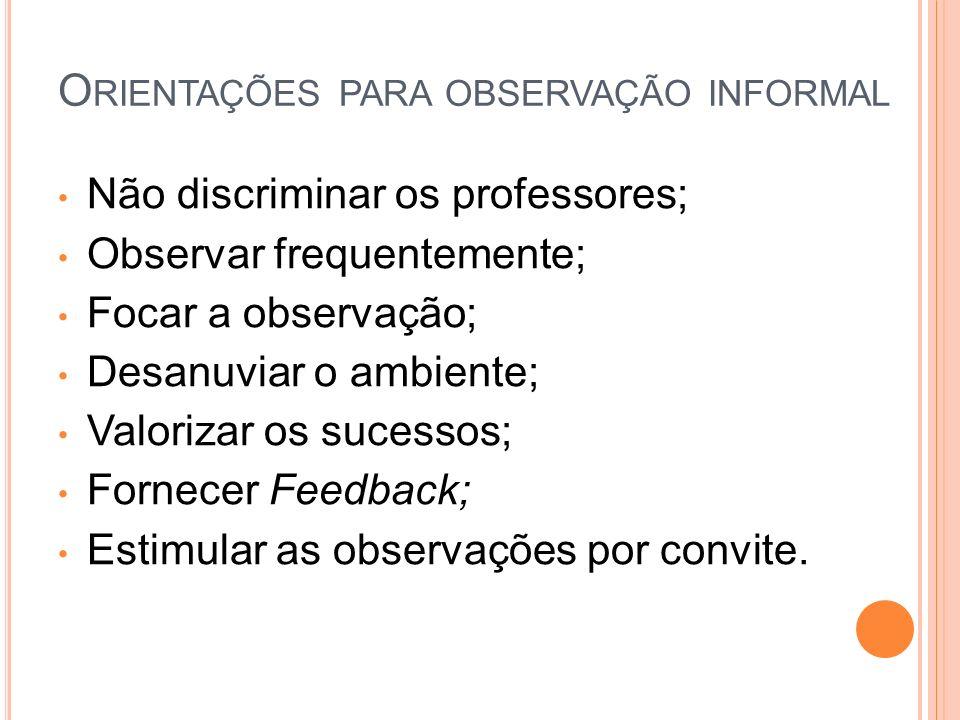 Orientações para observação informal