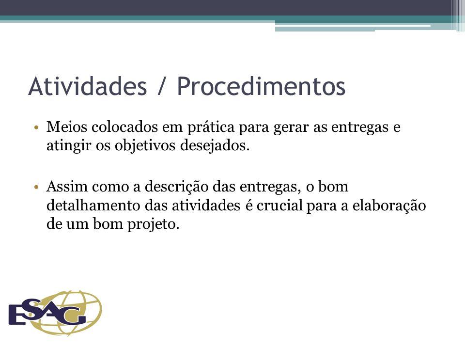 Atividades / Procedimentos