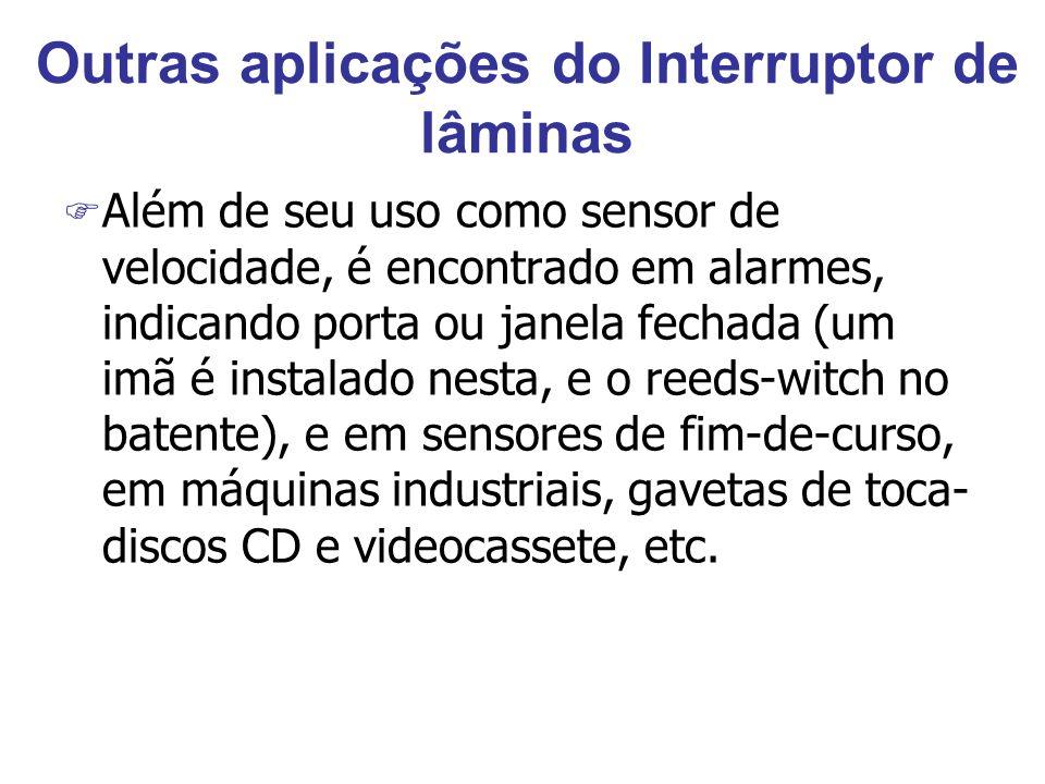 Outras aplicações do Interruptor de lâminas