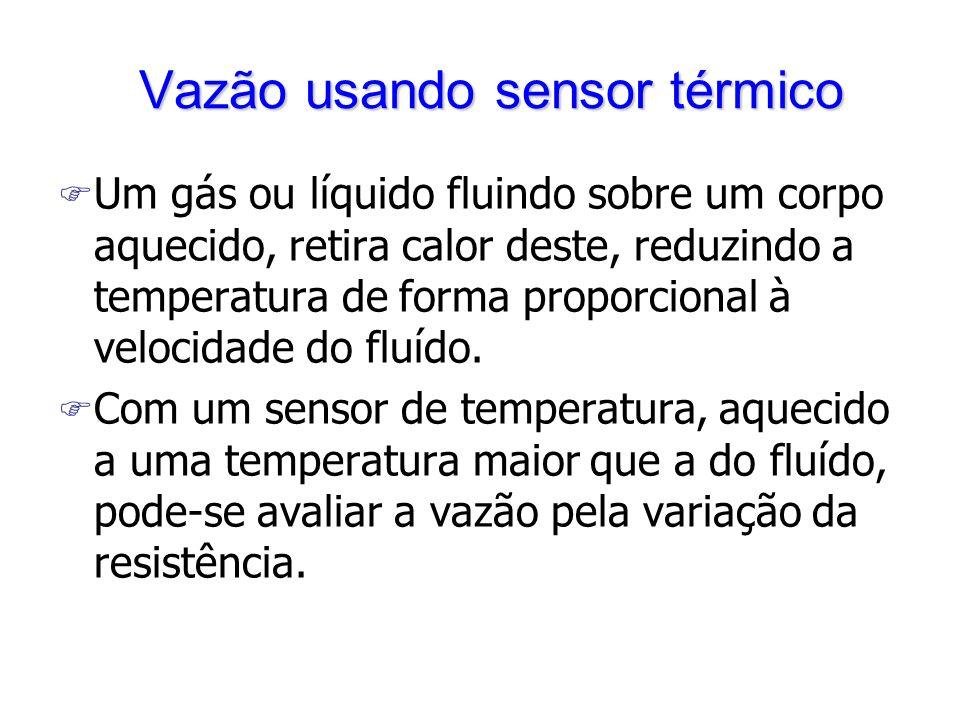 Vazão usando sensor térmico
