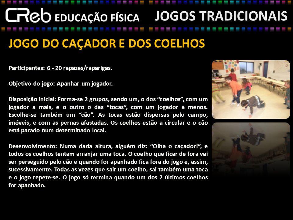 JOGOS TRADICIONAIS JOGO DO CAÇADOR E DOS COELHOS