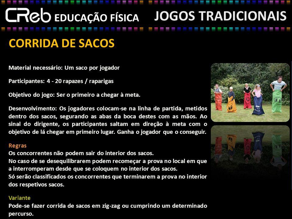 JOGOS TRADICIONAIS CORRIDA DE SACOS