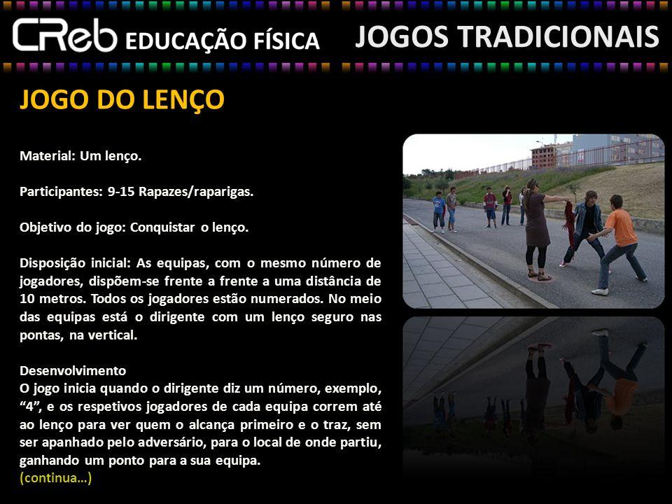 JOGOS TRADICIONAIS JOGO DO LENÇO Material: Um lenço.