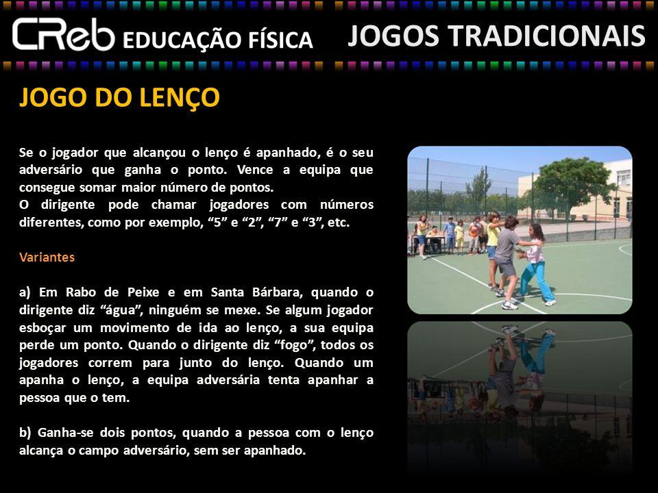 JOGOS TRADICIONAIS JOGO DO LENÇO