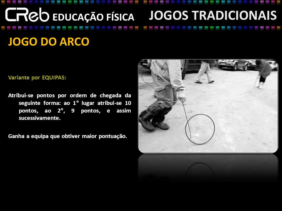 JOGOS TRADICIONAIS JOGO DO ARCO Variante por EQUIPAS: