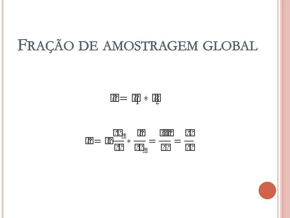 Fração de amostragem global
