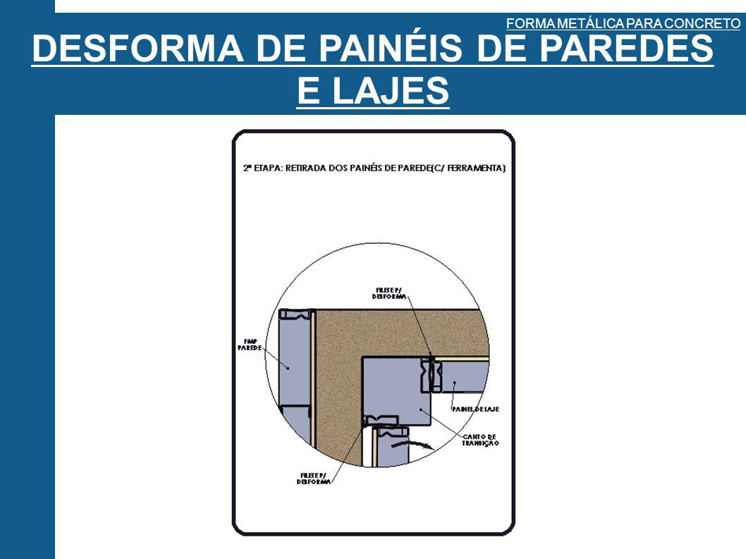 DESFORMA DE PAINÉIS DE PAREDES