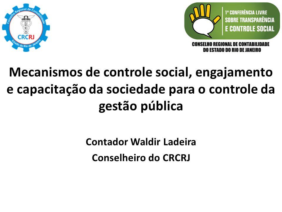 Contador Waldir Ladeira Conselheiro do CRCRJ