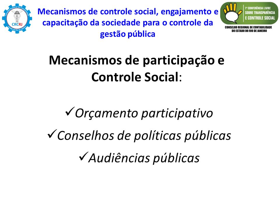Mecanismos de participação e