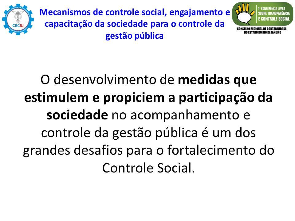 Mecanismos de controle social, engajamento e capacitação da sociedade para o controle da gestão pública