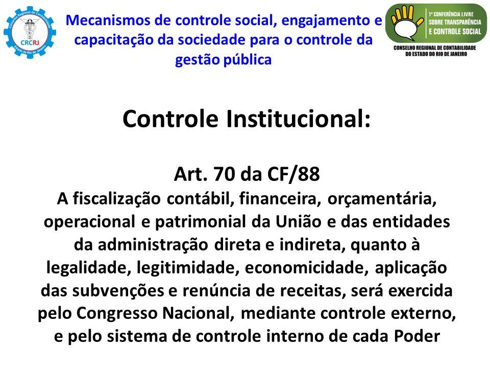 Controle Institucional: