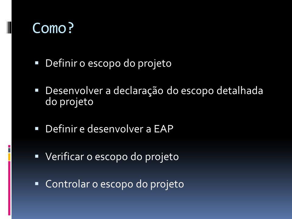 Como Definir o escopo do projeto