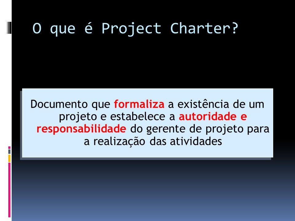 O que é Project Charter