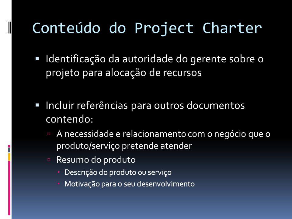 Conteúdo do Project Charter