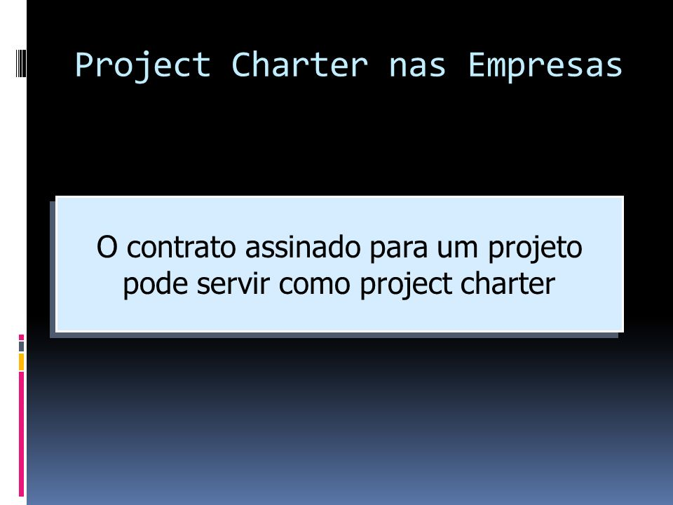 Project Charter nas Empresas
