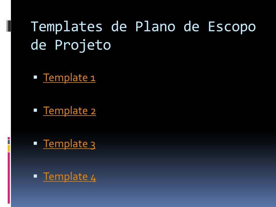 Templates de Plano de Escopo de Projeto