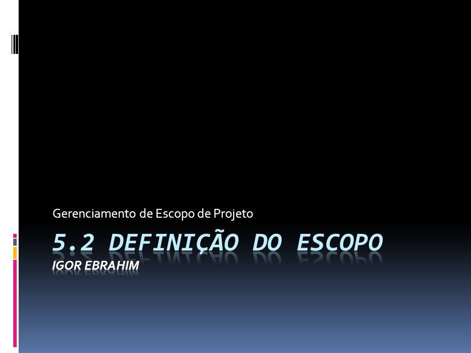 5.2 Definição do Escopo Igor Ebrahim