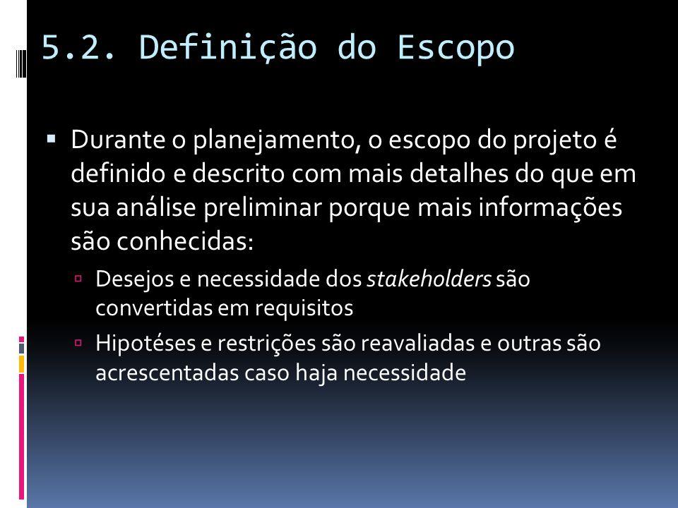 5.2. Definição do Escopo