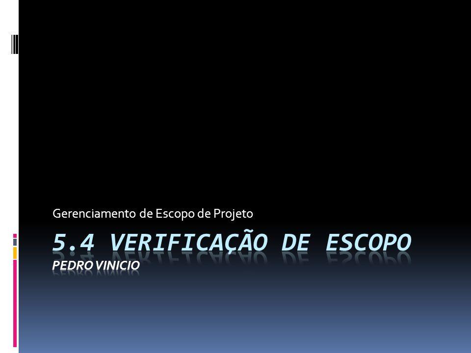 5.4 Verificação de escopo Pedro Vinicio