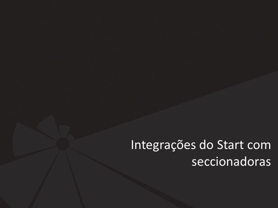 Integrações do Start com seccionadoras