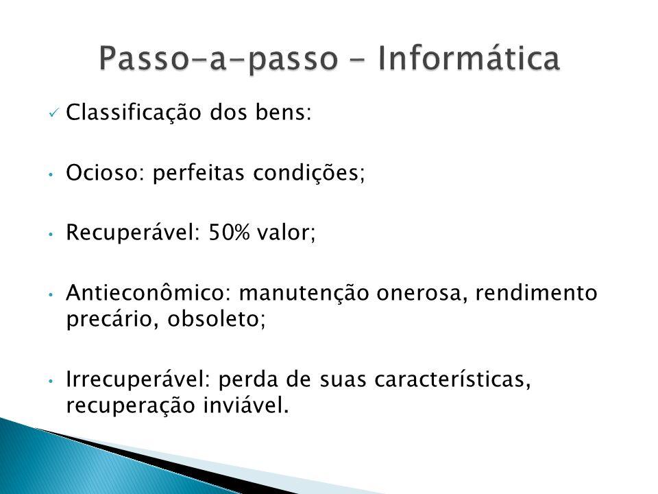 Passo-a-passo - Informática
