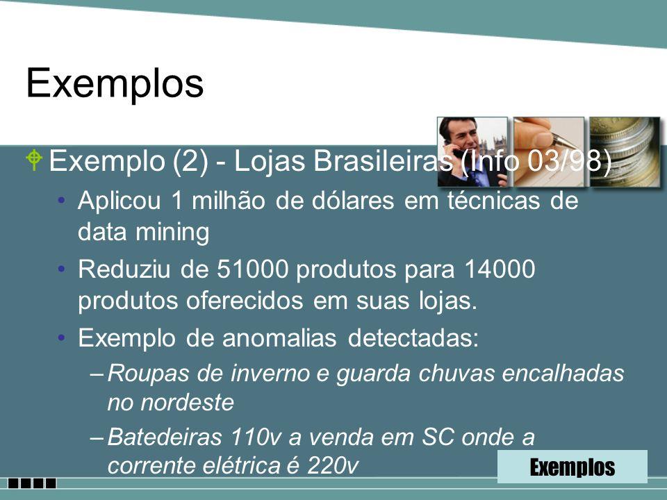Exemplos Exemplo (2) - Lojas Brasileiras (Info 03/98)