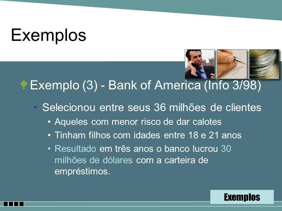 Exemplos Exemplo (3) - Bank of America (Info 3/98)