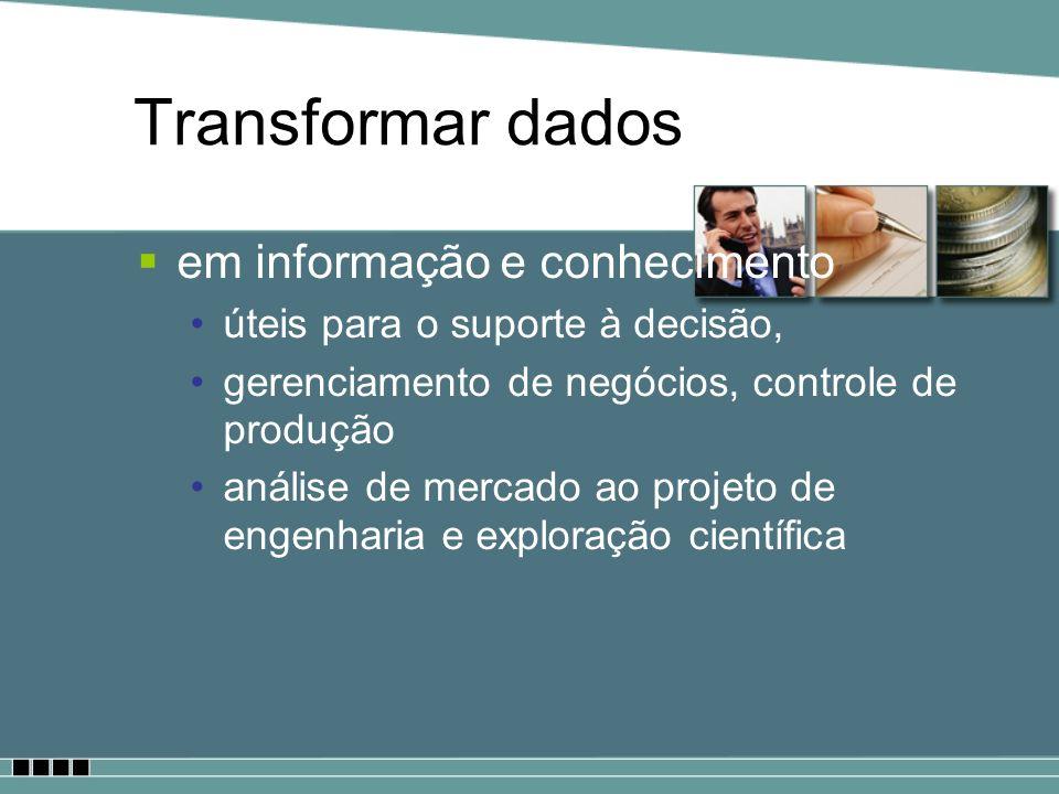 Transformar dados em informação e conhecimento