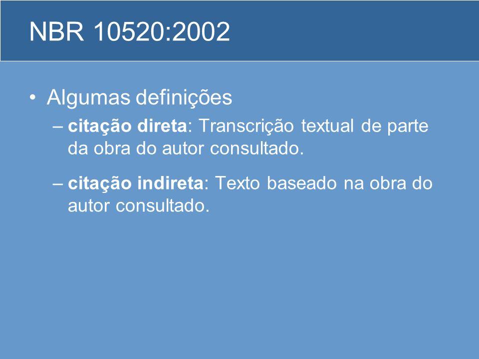 NBR 10520:2002 Algumas definições