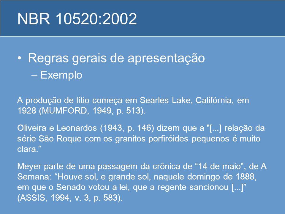 NBR 10520:2002 Regras gerais de apresentação Exemplo
