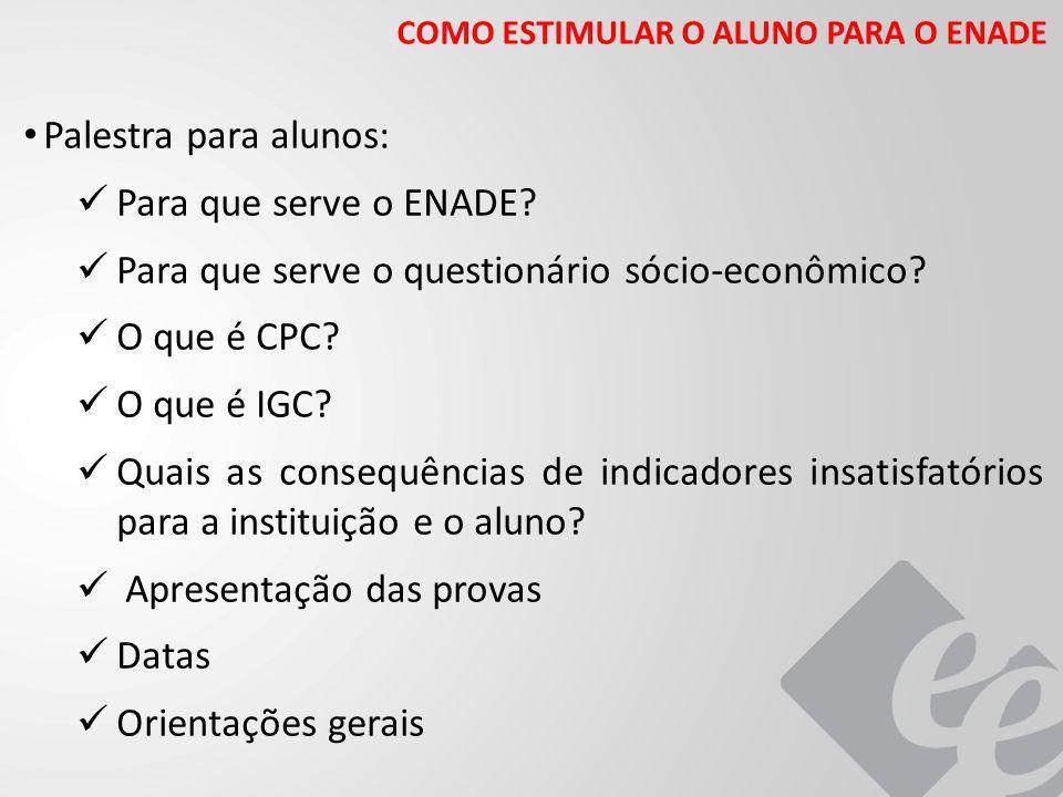 Para que serve o questionário sócio-econômico O que é CPC