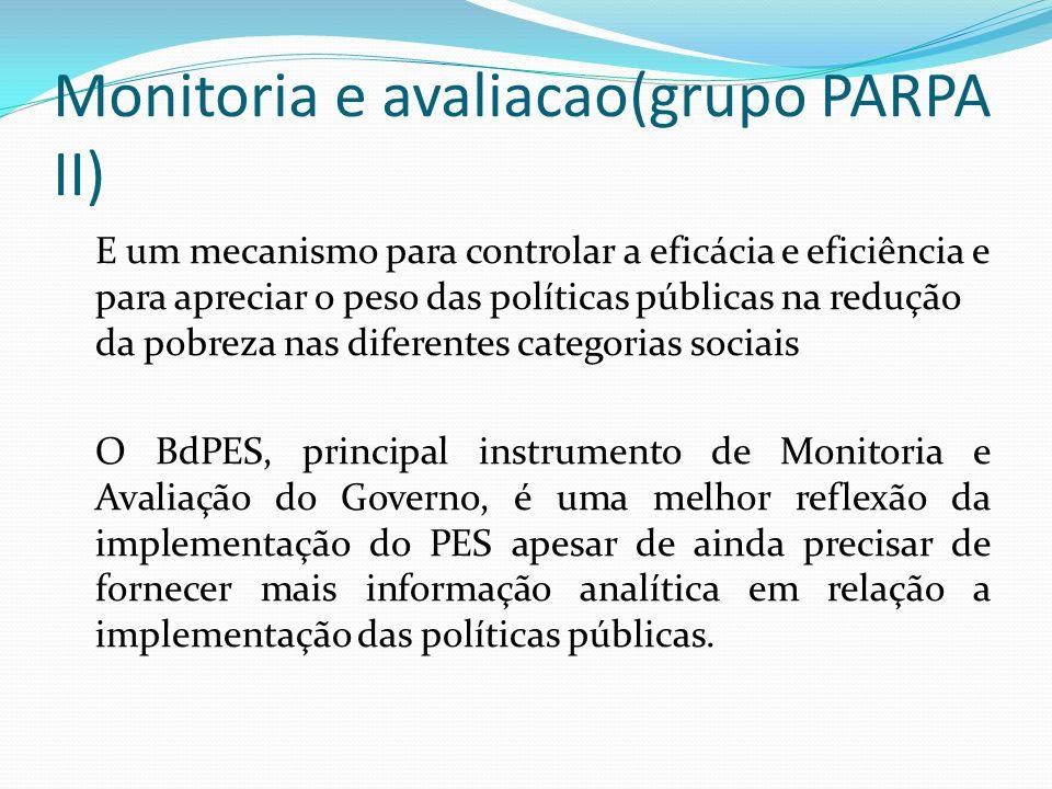 Monitoria e avaliacao(grupo PARPA II)