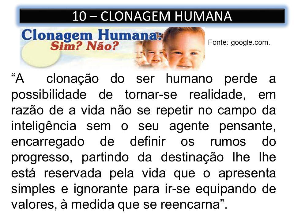 10 – CLONAGEM HUMANA Fonte: google.com.
