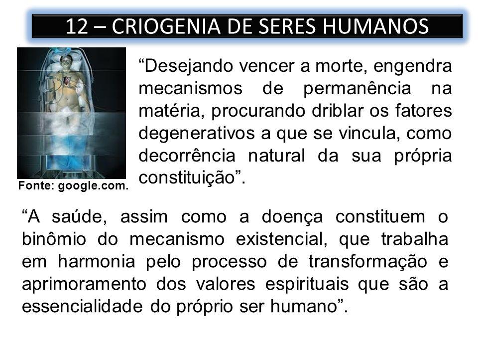 12 – CRIOGENIA DE SERES HUMANOS