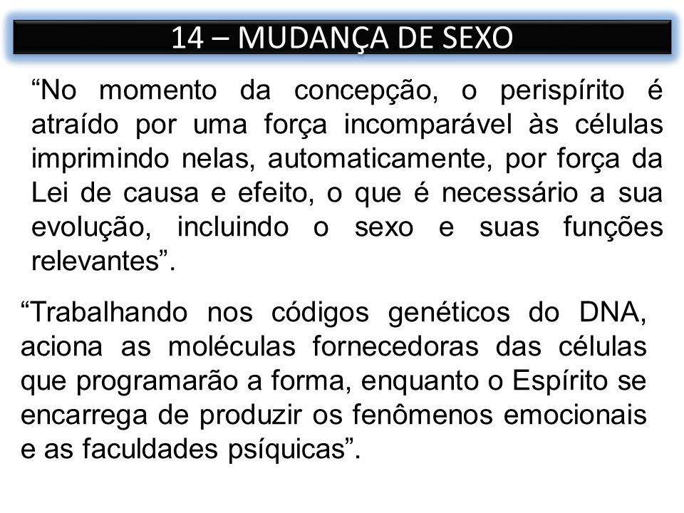 14 – MUDANÇA DE SEXO
