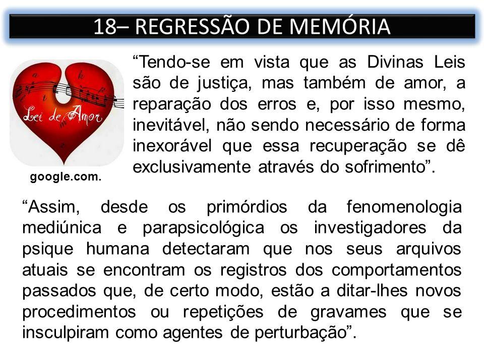 18– REGRESSÃO DE MEMÓRIA