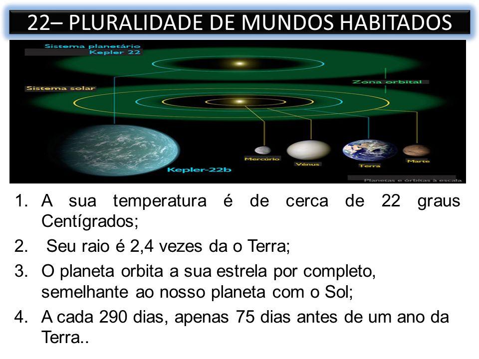 22– PLURALIDADE DE MUNDOS HABITADOS