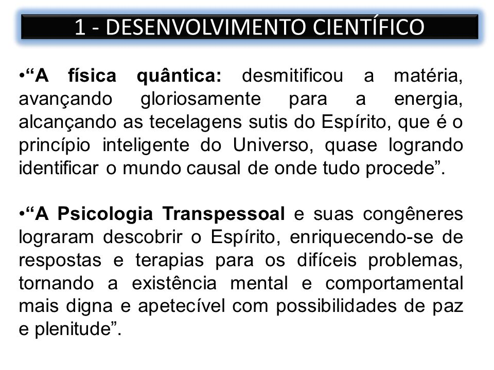 1 - DESENVOLVIMENTO CIENTÍFICO