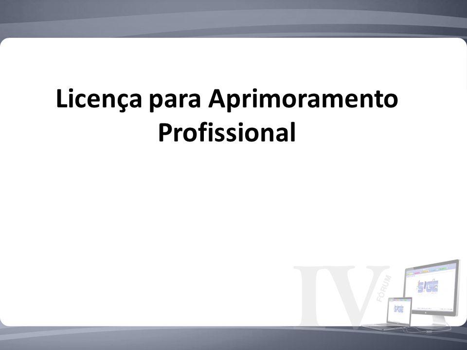 Licença para Aprimoramento Profissional