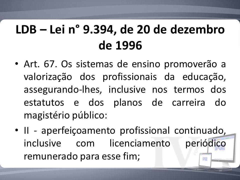 LDB – Lei n° 9.394, de 20 de dezembro de 1996