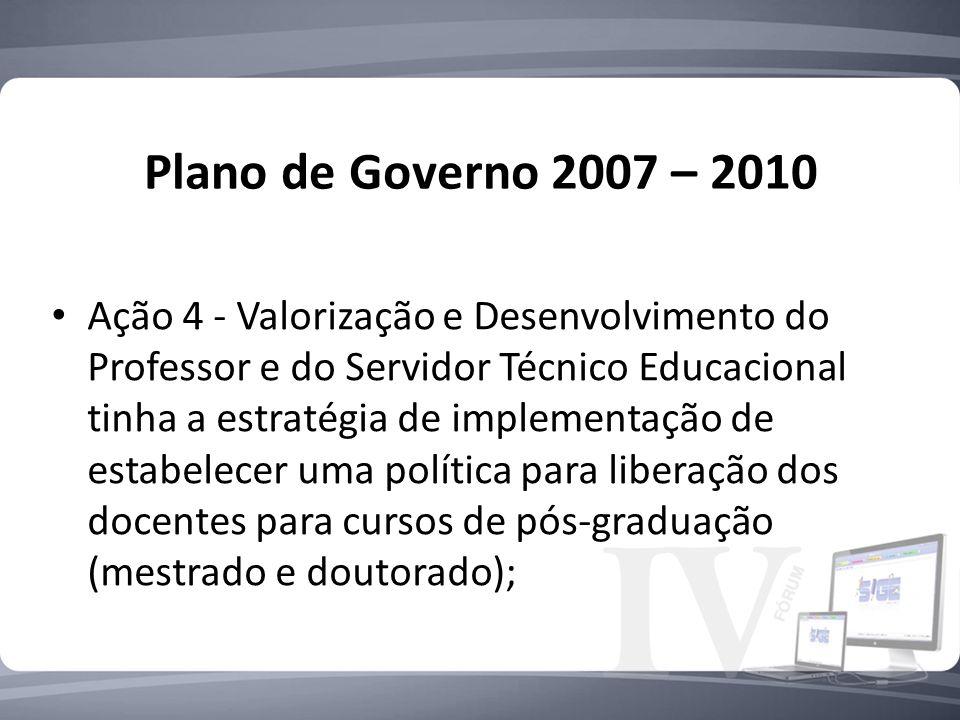 Plano de Governo 2007 – 2010