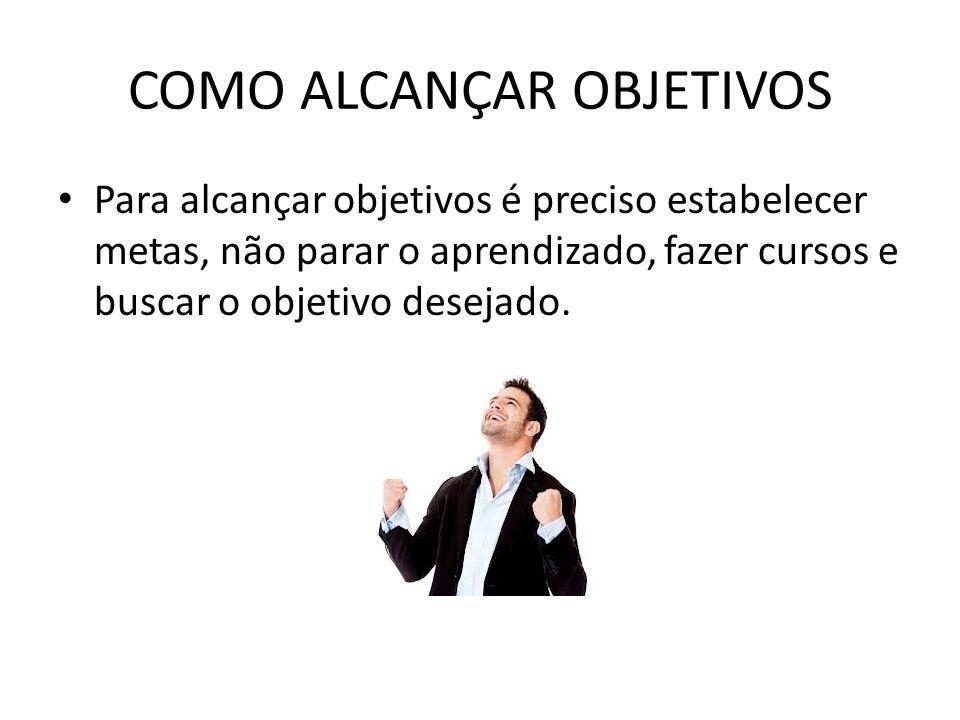 COMO ALCANÇAR OBJETIVOS