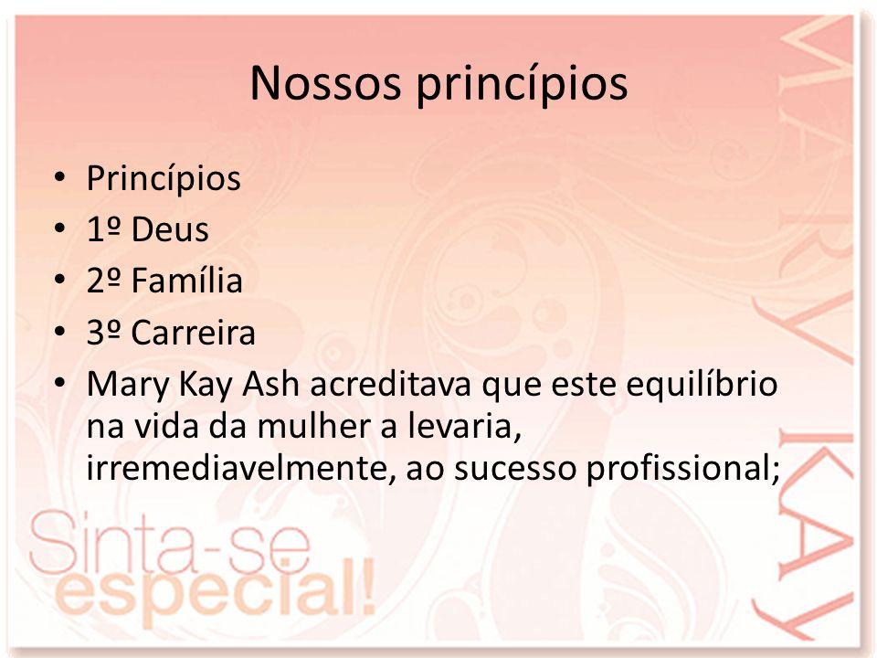 Nossos princípios Princípios 1º Deus 2º Família 3º Carreira