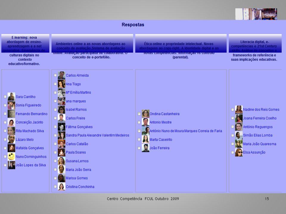 Centro Competência FCUL Outubro 2009